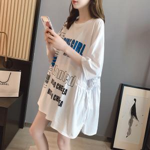 FS89592# 设计感小众宽松大版短袖T恤女韩版中长款夏季新款体恤 服装批发女装直播货源