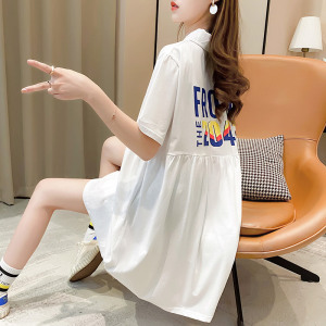 FS89591# 短袖t恤裙女...