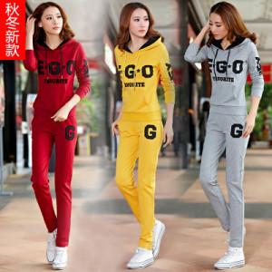 FS99983# 新款运动套装女款秋休闲套装运动服女秋新款长袖大码卫衣套装