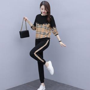 YF16210# 初秋2020新款气质宽松大码洋气两件套春秋季韩版显瘦时尚套装女