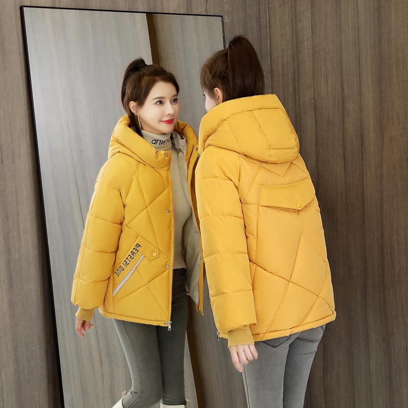实拍羽绒棉服2020新款棉衣韩版宽松面包服女冬装外套短款小棉袄-靓衣轩羽绒服-