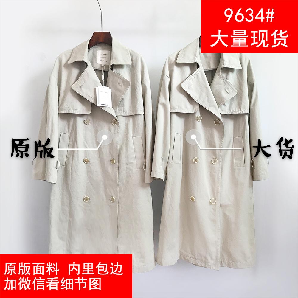 南韩千颂伊2020新款中长款风衣女小个子高端气质流行大衣外套-三禾网红女装-