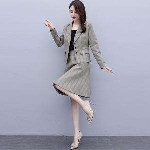 FS91190#  西装连衣裙年新款女秋装时尚洋气气质小香风职业套装裙两件套 服装批发女装直播货源