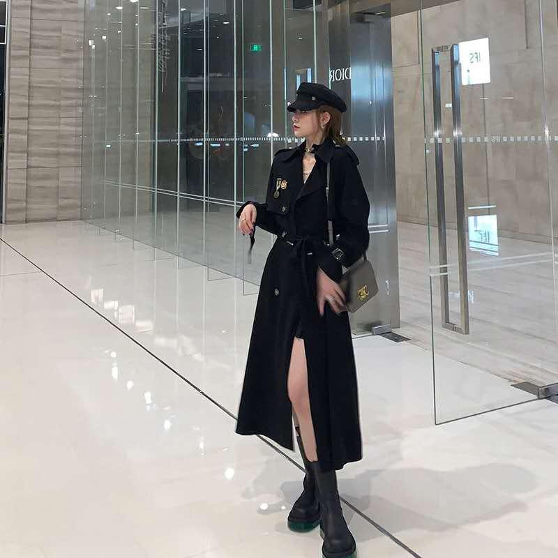 南夕姐姐定制风衣女中长款2020秋季新款宽松气质流行英伦风外套潮-诺娜印象GO-