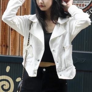 YF13139# 春秋季短外套女韩版宽松休闲棒球服新款白色牛仔夹克 服装批发女装直播货源