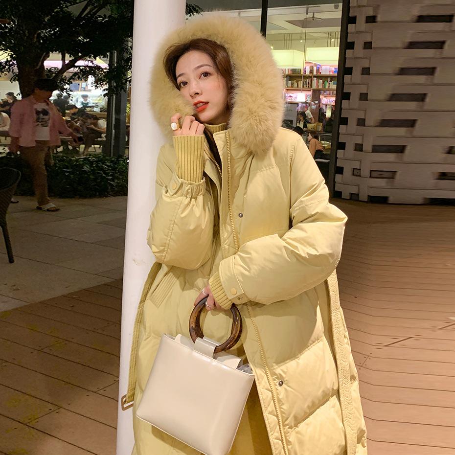 官网图 夏诗文同款羽绒服女2020新款冬中长款加厚外套面包棉服-靓衣轩羽绒服-