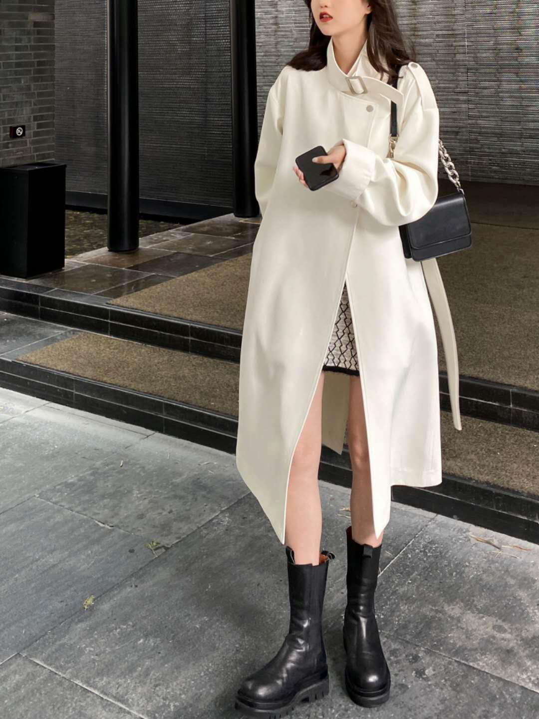 小玉酱女明星机场风衣英伦风时尚气质流行中长款风衣外套女秋-诺娜印象GO-