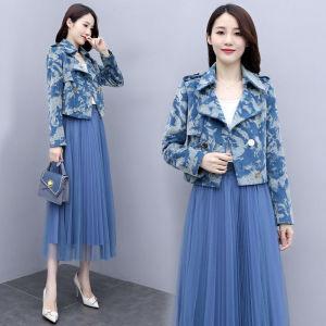 FS91206#  秋季新款女气质女装裙子减龄显瘦秋装套装洋气两件套 服装批发女装直播货源