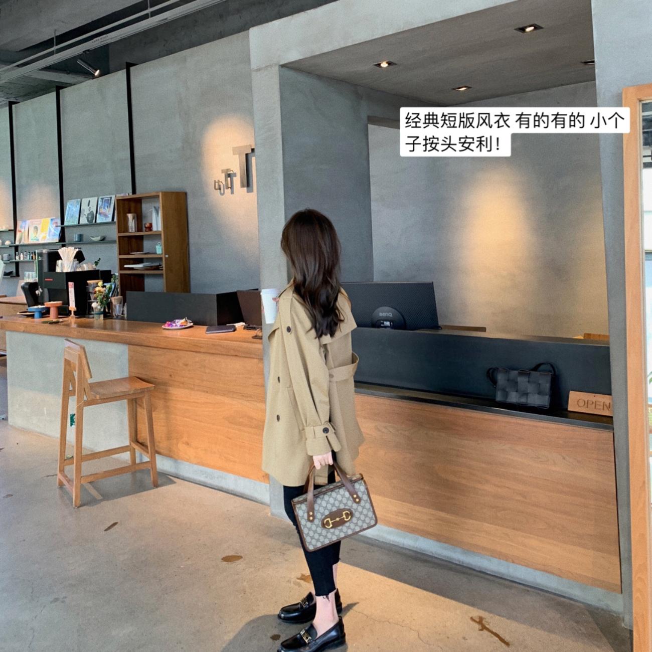ASM ANNA◆8.26新品 剑桥纪念日~ 经典短款系带风衣-欧菲迪-