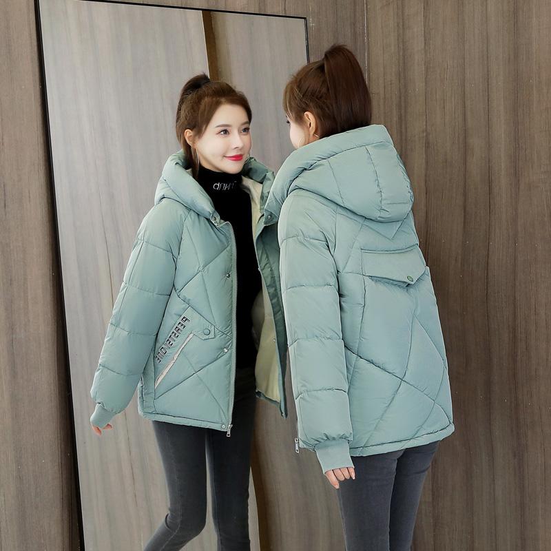 实拍羽绒棉服2020新款棉衣韩版宽松面包服女冬装外套短款小棉袄潮-依之秀羽绒服-