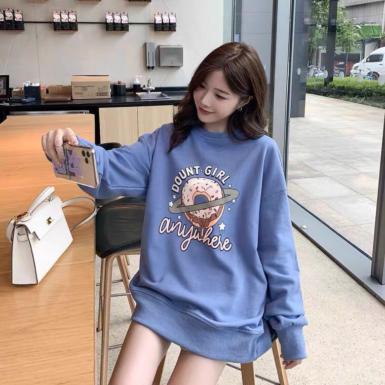 提前加购 8月31号10点上新韩版宽松卡通印花学生卫衣E8505-月月服饰-