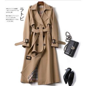 YF17580# 英伦风衣女中长款春秋气质今年流行新款韩版高端大气大衣外套