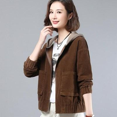 灯芯绒短外套女韩版宽松春秋装2020年新款时尚百搭女士夹克潮-全来做网店-