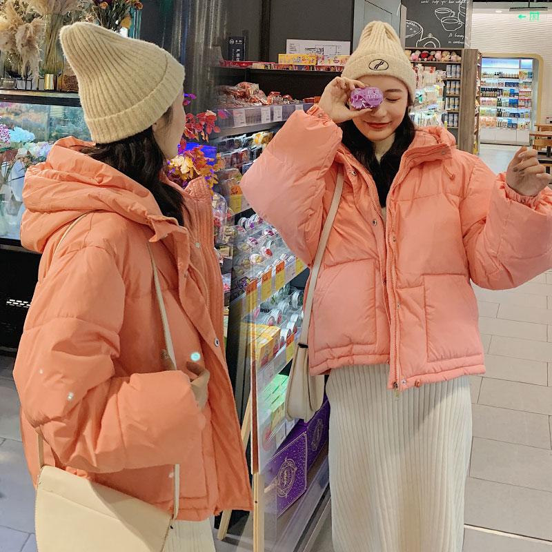 实拍新款韩版短款羽绒服加厚冬装面包服小个子宽松休闲棉衣外套-千姿秀羽绒服-