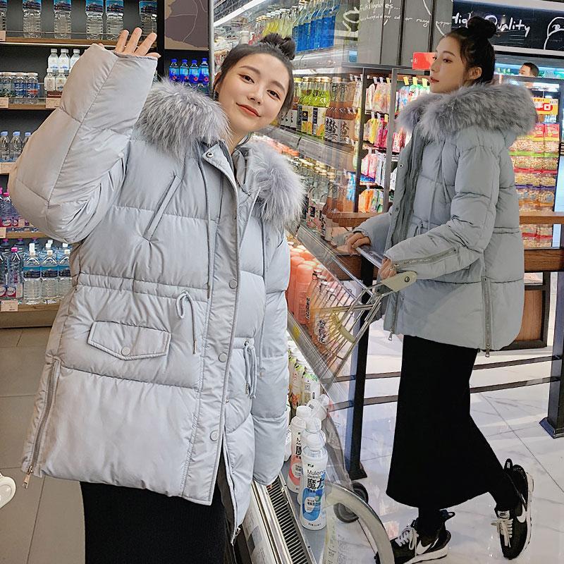 实拍新款韩版羽绒服抽绳收腰棉衣女冬气质温柔短款棉服冬装外套-千姿秀羽绒服-