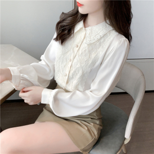 FS96122# 秋款洋气衬衫女设计感小众雪纺衫衬衣女仙女范 服装批发女装直播货源