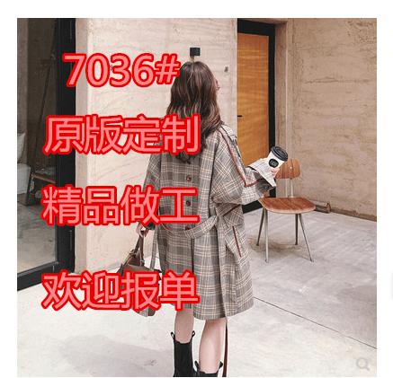 小个子复古格子风衣女中长款2020春秋新款韩版宽松外套潮收腰显瘦-样样红实拍店-
