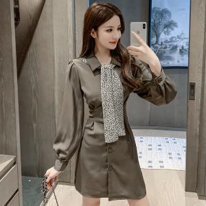 FS95085# 新款韩版秋装套装女洋气时尚连衣裙披肩减龄显瘦气质两件套潮 服装批发女装直播货源