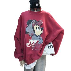 YF12552# 抗起球秋冬新款趣味印花卫衣女潮 服装批发女装直播货源