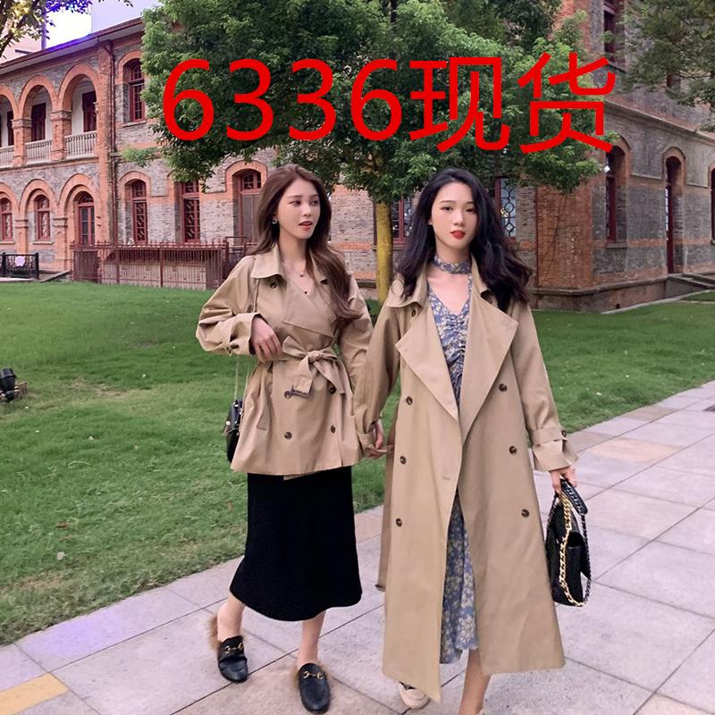 提前加购 9月14号10点上新气质双排扣系带卡其色风衣E9218-哆来咪R服饰-