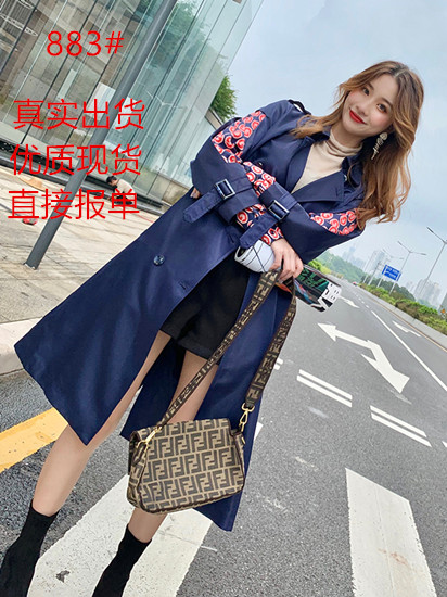 气质名媛风衣2020新款中长款秋装新品今年流行时尚女装垂感外套潮-恒润美服饰-