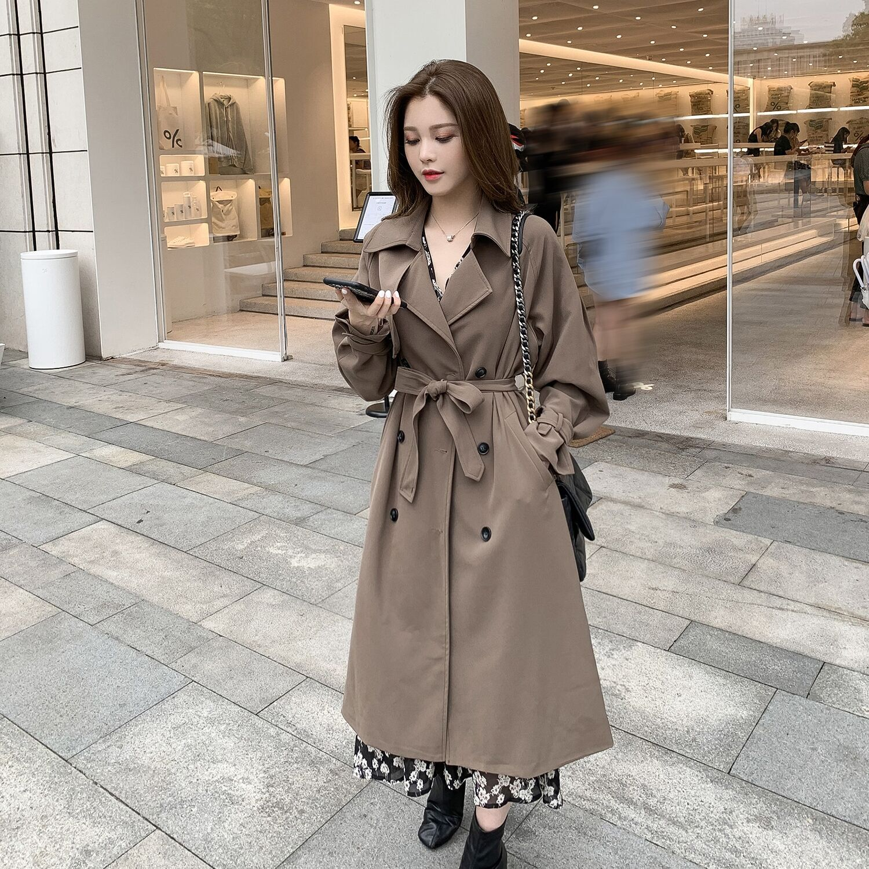 提前加购 9月21号0点上新韩版中长款私服风翻领显瘦风衣E9307-AAA爱时尚网红店-