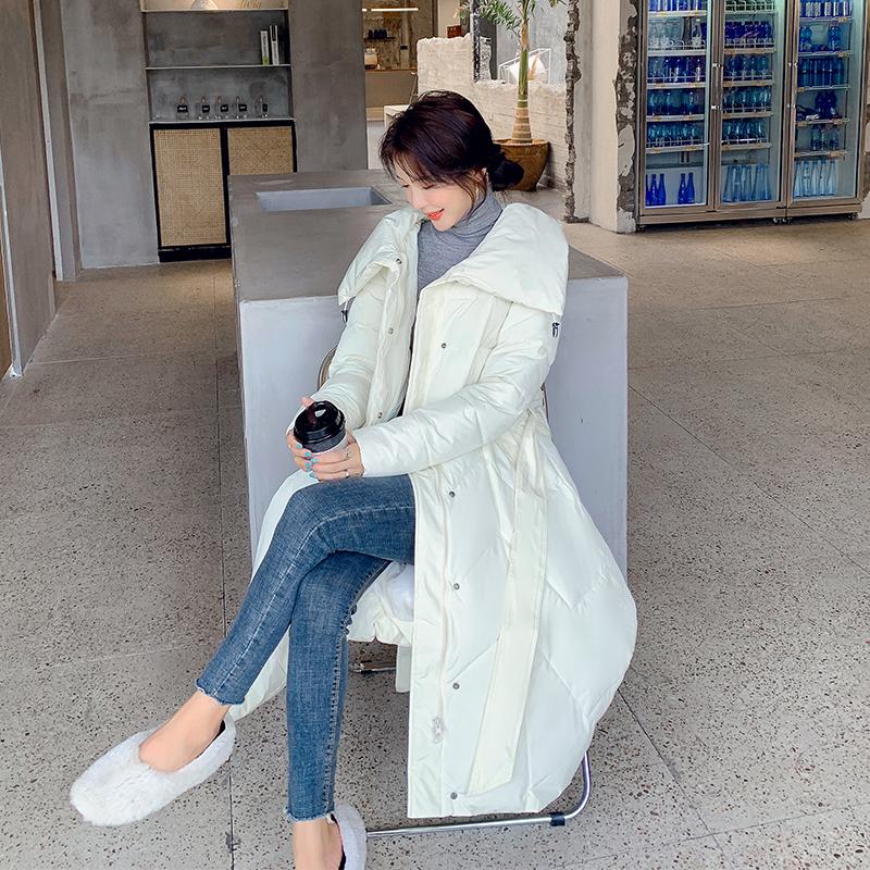 限价139元 实拍2020冬季韩版羽绒服时尚小清新显瘦长款收腰棉服女-依之秀羽绒服-