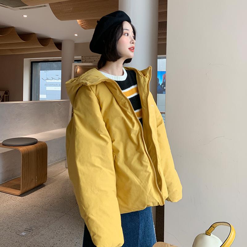 控价128元 实拍新款韩版羽绒服短款时尚宽松加厚棉衣女面包服外套-依之秀羽绒服-