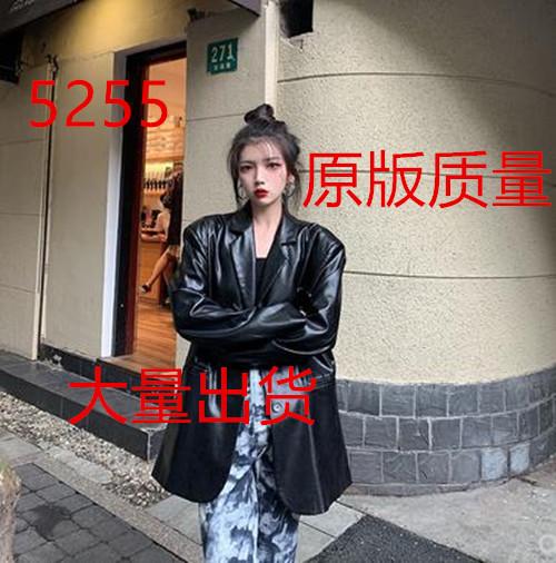 浅川酒一 9/21 10:00AM999不是真实售价/黑色气质皮西装外套-乐嘉服饰-