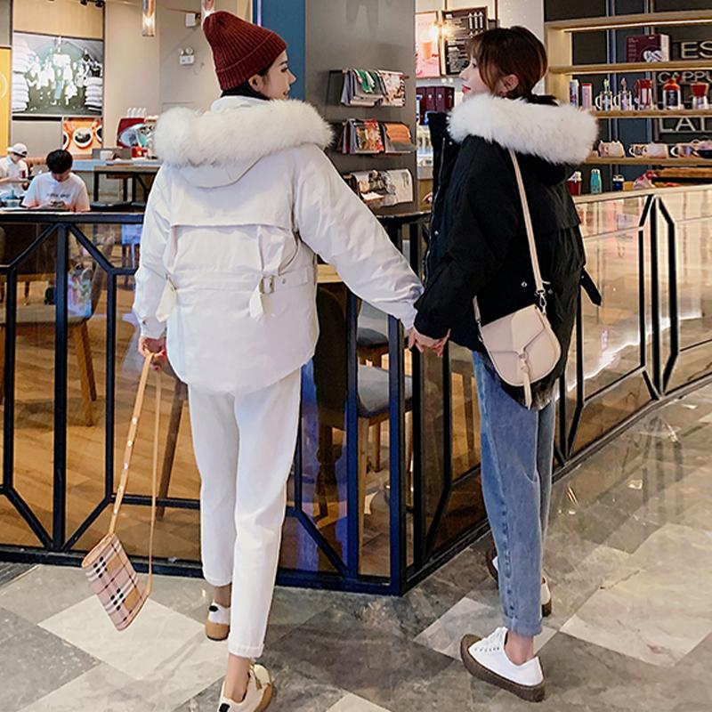 实拍2020新款羽绒服短款韩版时尚宽松加厚小个子闺蜜装棉服外套-艾尚梦颖羽绒服-