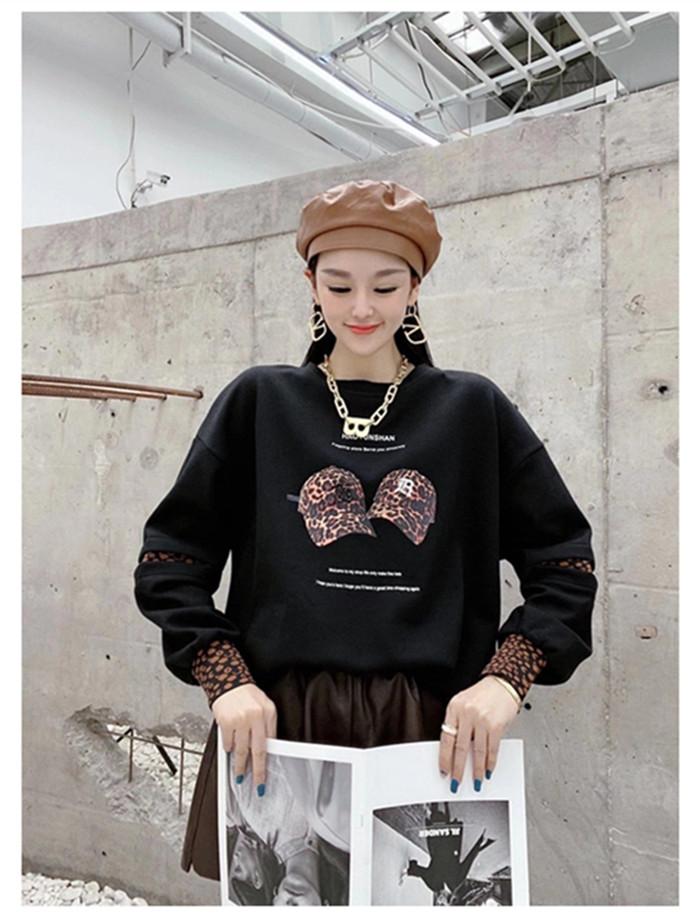 2020秋新款网红ins女卫衣韩版宽松潮牌图案重工简约时尚减龄上衣-朵美服饰-