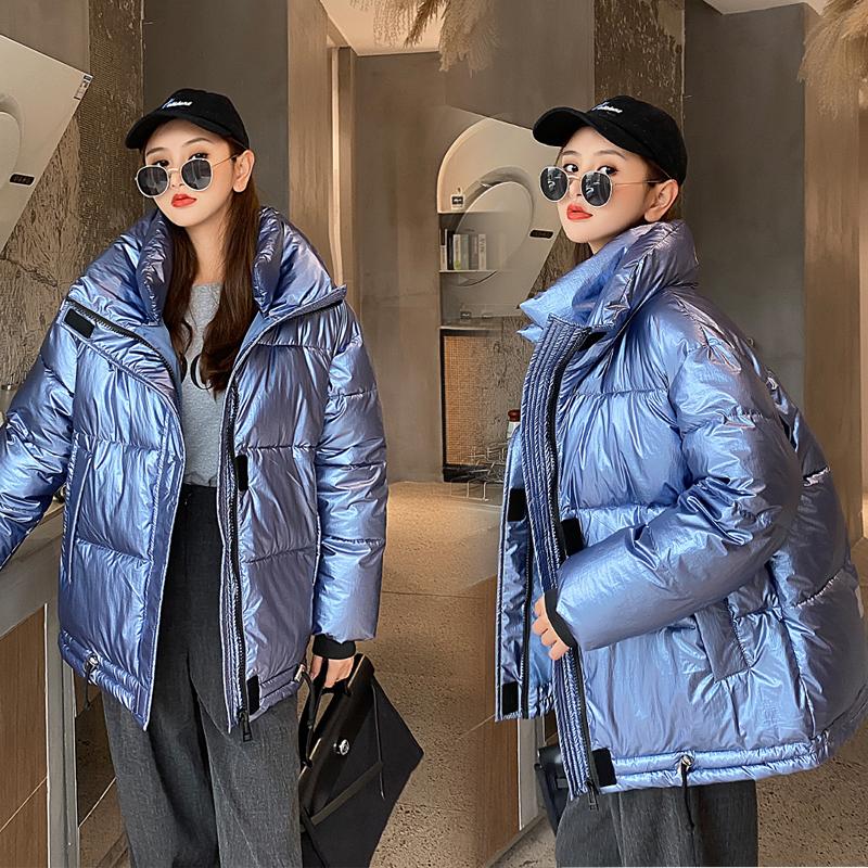实拍 2020新款羽绒棉服韩版亮面加厚面包服女时尚外套潮棉衣女-艾尚梦颖羽绒服-