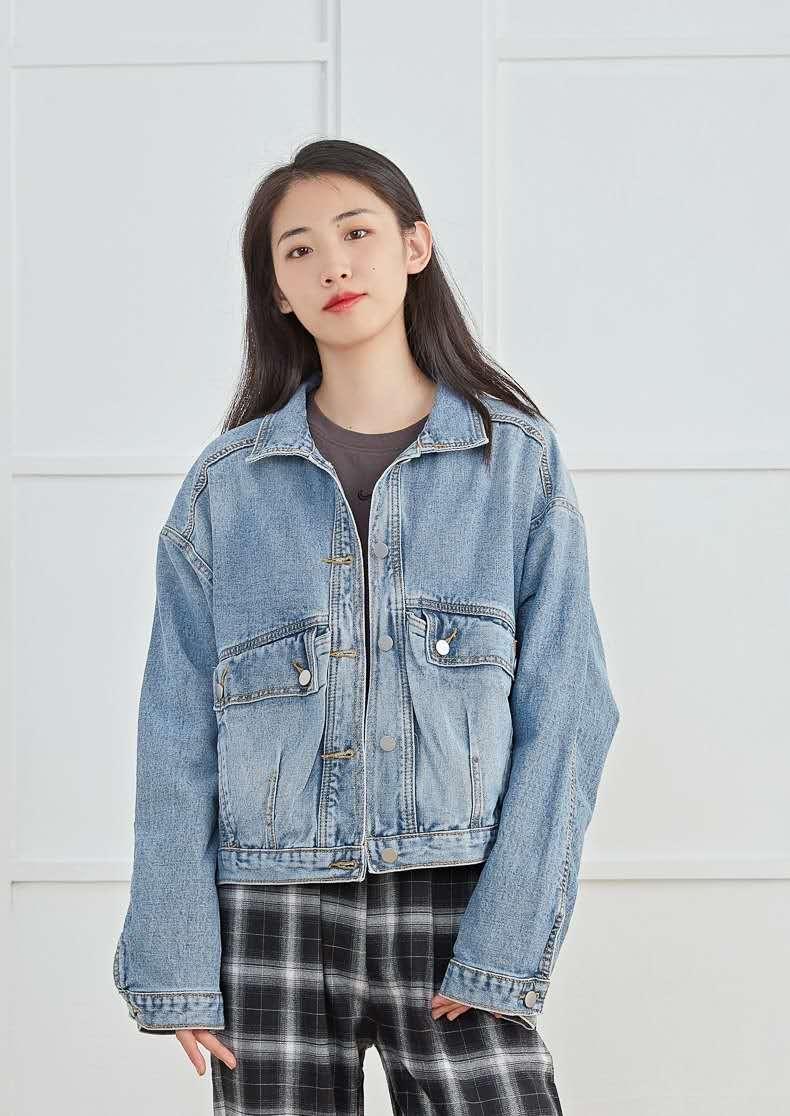 2020新款韩版宽松蝙蝠袖牛仔外套女学院风休闲牛仔上衣潮-YQ网络服饰-