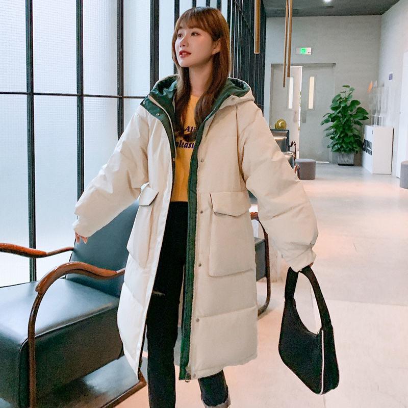 实拍2020年新款羽绒服女韩版中长款宽松加厚学生面包服棉衣外套女-艾尚梦颖羽绒服-