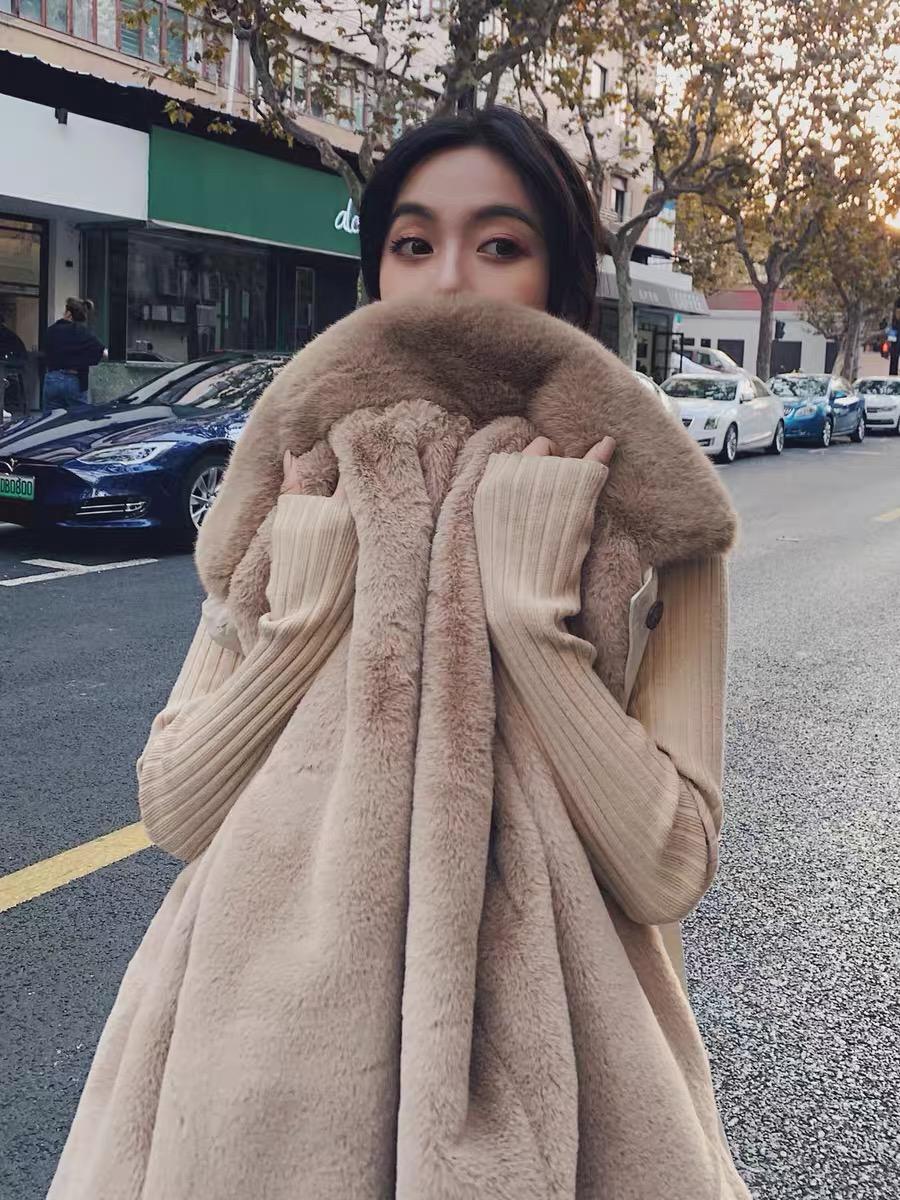 反季羊羔毛派克服女2020冬季短款小个子宽松韩版加厚皮毛一体外套-芊芊sunlight-