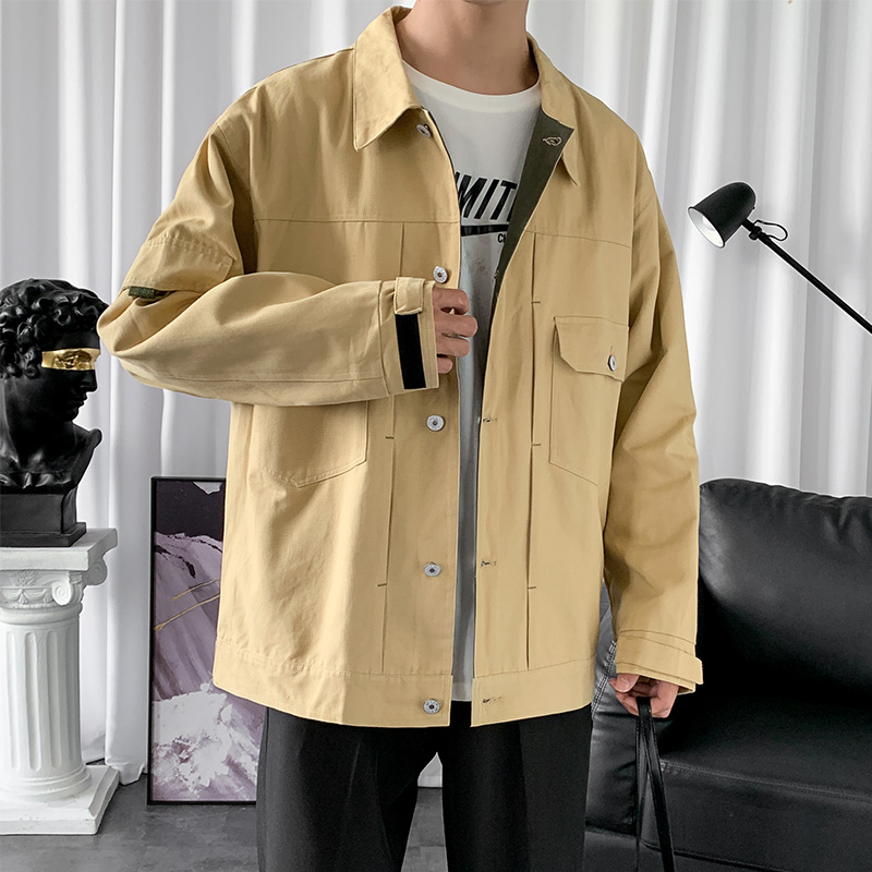 外套男2020秋季新款韩版潮流港风上衣帅气休闲百搭宽松秋装夹克-坏先生服饰-
