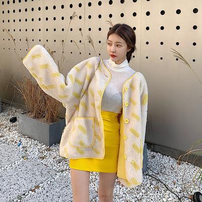 羊羔毛保暖加厚撞色减龄毛绒绒外套-INeedU韩风-