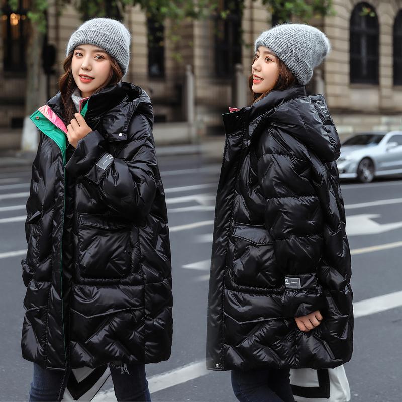 实拍2020冬季棉衣时尚网红羽绒服女胖MM学院风配色大码加厚棉服-依之秀羽绒服-