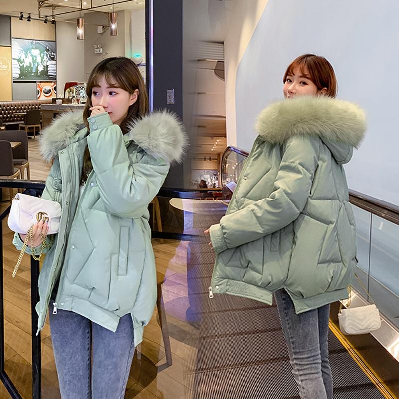实拍 羽绒棉服2020新款棉服女韩版宽松中长款学生棉袄加厚外套潮-千姿秀羽绒服-