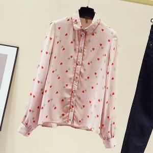 YF12589# 秋装新款日系可盐可甜娃娃衫上衣女小众设计时尚洋气法式衬衫 服装批发女装直播货源