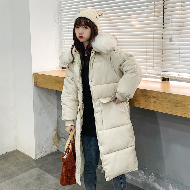 实拍 张贝贝2020羽绒服女大毛领设计感女小众韩版流行棉服女-千姿秀羽绒服-