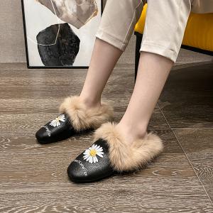 X-24585# 韩版时尚百搭保暖真兔婚鞋女鞋批发鞋子批发