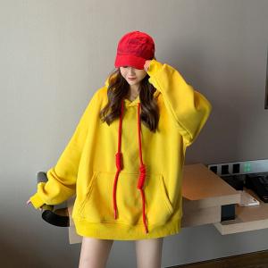 YF25534# 秋冬新款加肥加大码女装胖mm套头慵懒风显瘦卫衣减龄 服装批发女装货源