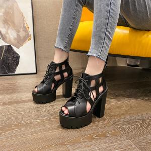 X-24668# 韩版时尚潮百搭新款走秀马丁靴尺码34-40款号