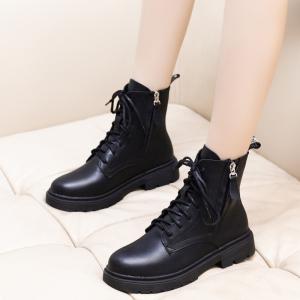 X-24729# ins马丁靴女秋冬季新款英伦风复古平底百搭短靴女学生靴子潮 鞋子批发女鞋货源