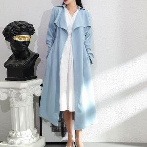 YF16896# 新款女装法式风衣女中长英伦风高端大气百搭垂坠感外套 服装批发女装直播货源