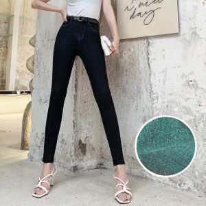 YF19806# 新款冬季牛仔裤女高腰小脚显瘦长裤子 服装批发服饰货源