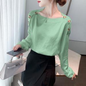 YF17122# 针织打底衫女士毛衣秋冬装女装宽松外穿新款洋气百搭