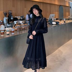 YF19437# 蓝语大码女装女神蕾丝连衣裙套装 服装批发服饰直播货源