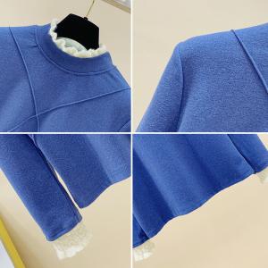 YF19650# 大码女装双面德绒打底衫内搭新款胖妹妹洋气显瘦上衣长袖服装批发直播货源